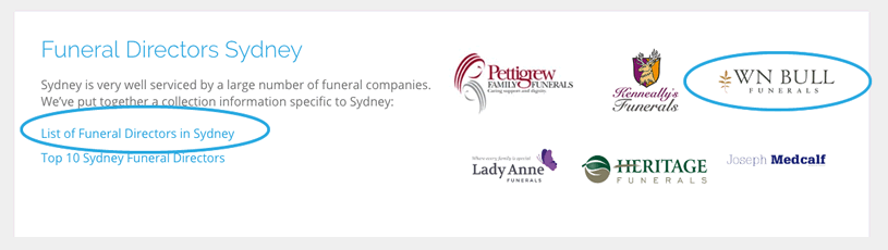 Use our website to create a list of funeral directors to get cheap prices from.